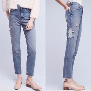 Anthro Pilcro Tilde Ultra High Rise cropped jeans